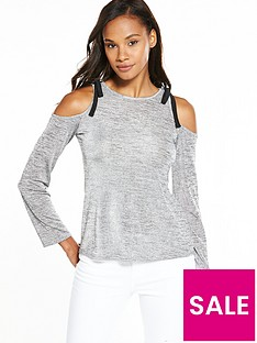 v-by-very-cold-shoulder-slinky-top-grey-marl