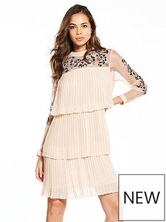 v-by-very-tiered-pleated-embroided-dress