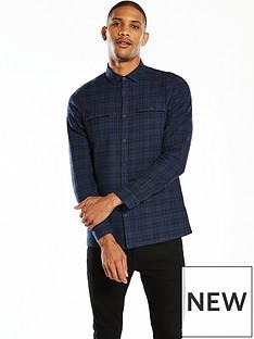 v-by-very-ls-plaid-broken-check-shirt