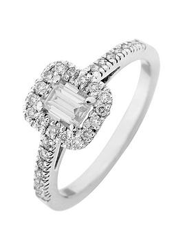 love-diamond-9ct-white-gold-60-point-diamond-emerald-cut-centre-halo-engagement-ring