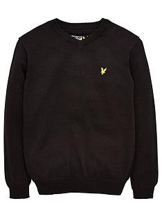 lyle-scott-boys-classic-v-neck-jumper