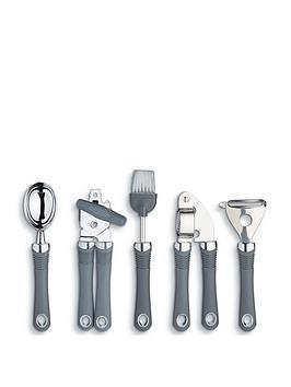 kitchen-craft-5-piece-stainless-steel-soft-grip-gadget-set