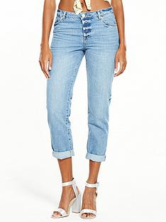 miss-selfridge-seamed-roll-hem-jean