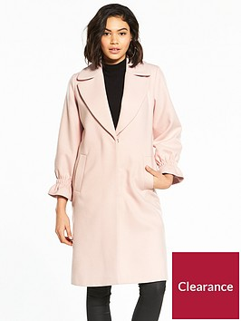 v-by-very-gathered-sleeve-detail-coat
