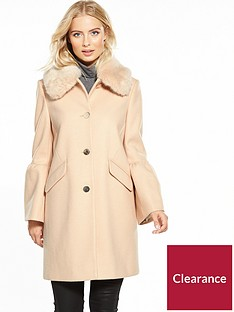 v-by-very-trumpet-sleeve-coat-with-faux-fur-collar