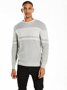 v-by-very-chest-stripe-knitted-jumper