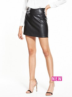 river-island-black-pu-mini-skirt