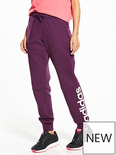 adidas-essentials-linear-fleece-pants-burgundynbsp
