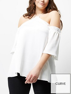 river-island-ri-plus-white-cold-shoulder-top