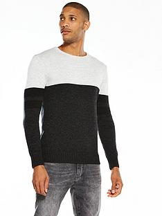 v-by-very-colour-block-knit-jumper