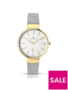 accurist-date-dial-2-tone-mesh-bracelet-ladies-watch