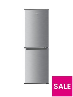 Swan SR8180S 48cm Wide Fridge Freezer - Stainless Steel Effect