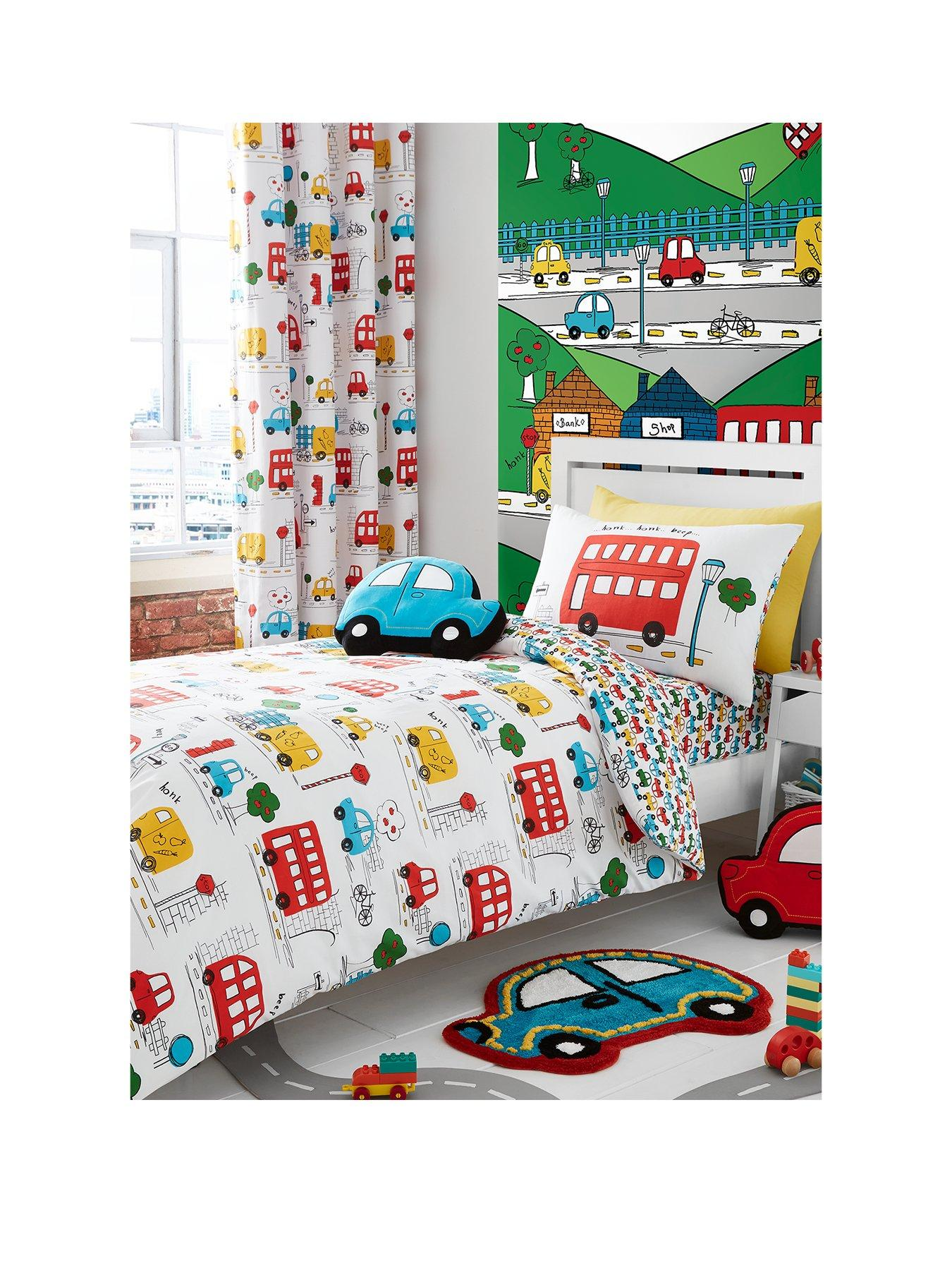 Beddengoed, bedlinnen The Grinch Panel Double Bed Duvet Quilt Cover Set Brand New Gift Bedlinnen, sets