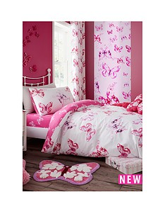 catherine-lansfield-butterfly-double-fitted-sheet