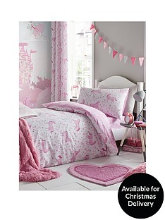 catherine-lansfield-folk-unicorn-duvet-cover-set