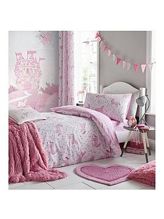 catherine-lansfield-folk-unicorn-double-duvet-set