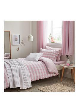 bianca-cottonsoft-gingham-single-duvet-cover-set-pink