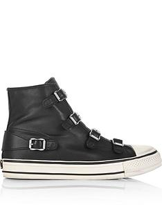 e3d2a54f23ba7 ASH Virgin Nappa Leather High Tops - Black