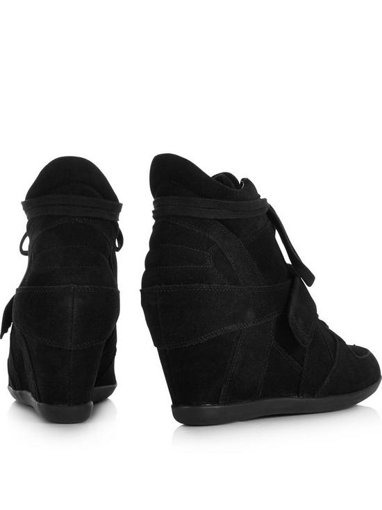 4fe25071e01 ... ASH Bowie Suede Wedge Trainers - Black. View larger