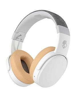 Skullcandy Crusher Wireless Over-Ear Bluetooth Headphones With Built-In Microphone - White/Grey