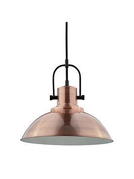 antique-copper-dome-ceiling-pendant