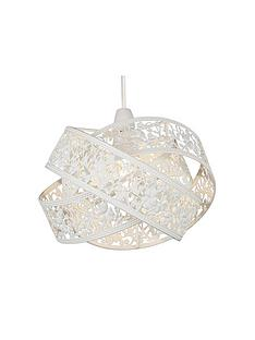 white-crossover-metal-fretwork-shade