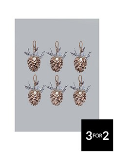 frosted-pine-cone-hanging-christmas-decorations-6-pack