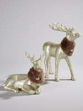 stag-christmas-decorations-set-of-2