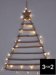 rustic-ladder-tree-christmas-card-holder