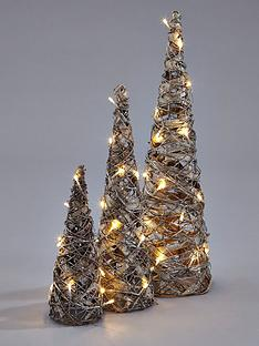 lit-rattan-cones-christmas-decorations-set-of-3