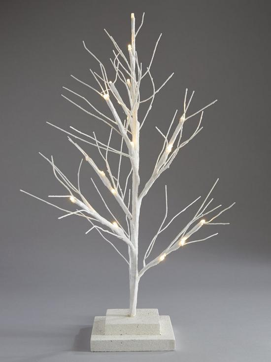 Small White Pre Lit Twig Christmas Tree - 60 cm | very.co.uk