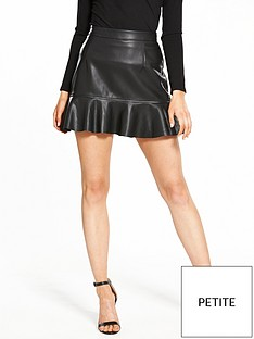 v-by-very-petite-petite-drop-hem-leather-look-skirtnbsp