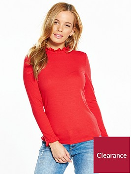 v-by-very-petite-frill-high-neck-top-red