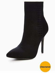 v-by-very-kitty-knitted-pointed-ankle-boot-black