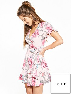 v-by-very-petite-frill-woven-wrap-dress