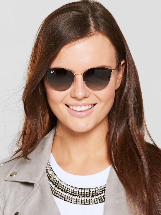 20c9f609e3cc Ray-Ban Clubround Sunglasses - Black | very.co.uk