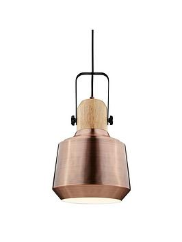 antique-copper-amp-wood-ceiling-pendant