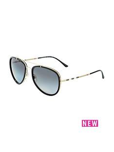 burberry-aviator-style-sunglasses-blackgold
