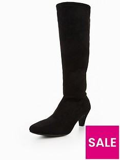 v-by-very-rhea-mid-heel-imi-suede-stretch-boot-black