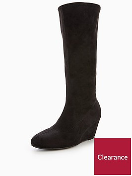 v-by-very-vanessa-imi-suede-stetch-wedge-boot-black
