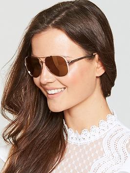 Michael Kors Mirror Lens Aviator Sunglasses