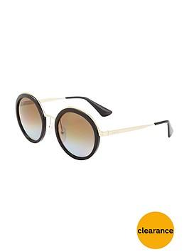 prada-round-frame-sunglassesnbsp--black