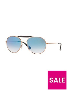 ray-ban-gradientnbsplens-aviatornbspsunglasses-blue