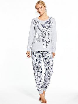tinkerbell-tinkerbell-up-all-night-loungewear-set-grey