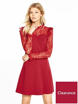 v-by-very-petite-long-sleeve-lace-yoke-ponte-dress