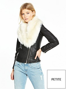 v-by-very-petite-premium-faux-fur-trim-pu-jacket