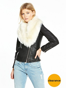 v-by-very-petite-premium-faux-fur-trim-pu-jacket