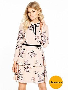 v-by-very-petite-petite-tie-neck-woven-tea-dress