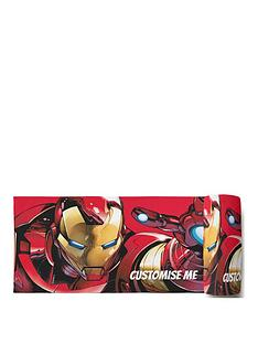 marvel-ironmannbsppersonalised-beach-towel