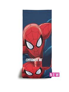 spiderman-personalised-beach-towel